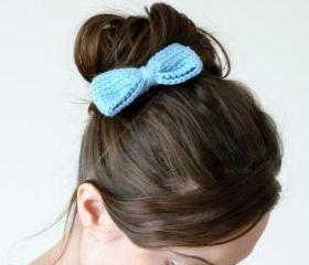  Crochet bow hair clip